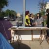 Profesores de Sant Boi inician una acampada en la calle contra los recortes en educación