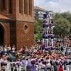 Els Castellers de Cornellà aconsegueixen la millor actuació de la temporada en el marc de les festes del Corpus