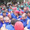 Los Castellers de Esplugues vuelven de las vacaciones con una discreta actuación
