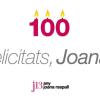 La poetessa baixllobregatina Joana Raspall rep la medalla centenària de la Generalitat, en un acte de reconeixement a la seva trajectòria