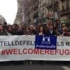 El Baix Llobregat molt present a la multitudinària manifestació a favor d'acollir persones refugiades