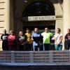 Intervenció de Jaume Bosch a la concentració de la Plaça de la Vila de Sant Feliu de Llobregat, convocada per la Taula Local pel Referèndum