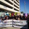 La primera línia política fa costat als veïns a la manifestació contra els lloguers abusius
