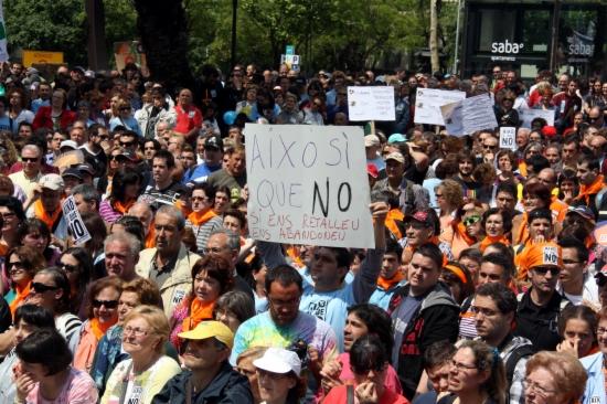 """Manifestació """"Això sí que no"""" a l'Arc de Triomf"""