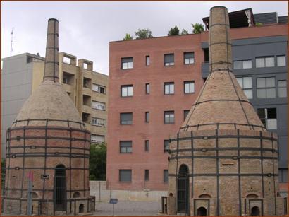 Imatge de l'exterior de la fàbrica La Rajoleta. Font: pàgina web de l'Ajuntament d'Esplugues